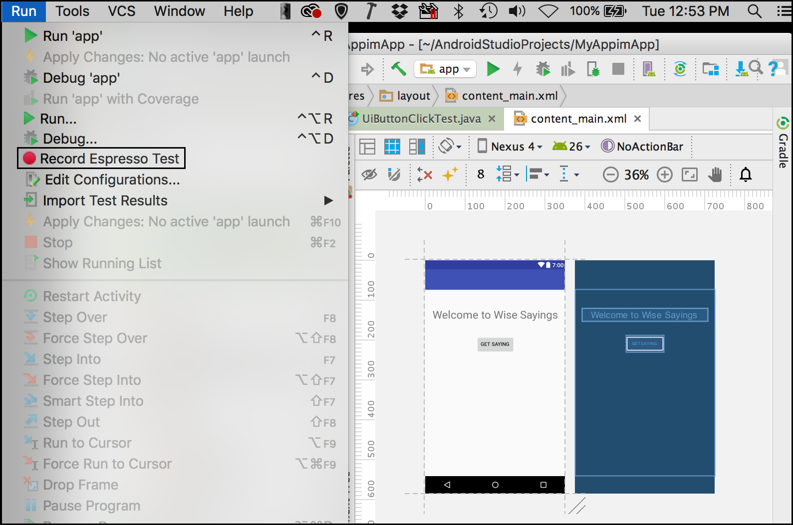 Using Espresso to Test Mobile Applications in Android Studio