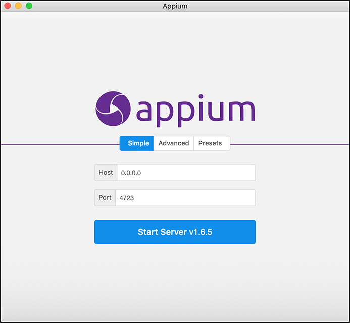 Appium Splash Page